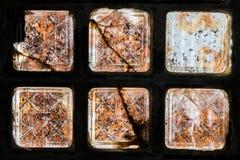 Vecchia architettura del mattone di vetro Immagini Stock