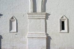 Vecchia architettura del parco di Kolomenskoye Chiesa di ascensione immagini stock libere da diritti
