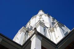 Vecchia architettura del parco di Kolomenskoye Chiesa di ascensione immagine stock libera da diritti