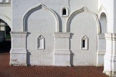 Vecchia architettura del parco di Kolomenskoye Chiesa di ascensione fotografia stock