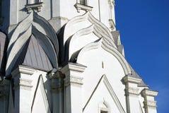 Vecchia architettura del parco di Kolomenskoye Chiesa di ascensione fotografie stock