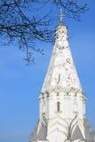 Vecchia architettura del parco di Kolomenskoye Chiesa di ascensione fotografie stock libere da diritti
