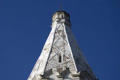 Vecchia architettura del parco di Kolomenskoye Chiesa di ascensione fotografia stock libera da diritti