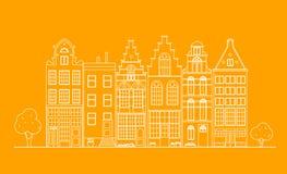 Vecchia architettura dell'Olanda Immagine Stock