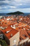 Vecchia architettura della città di Dubrovnik Fotografia Stock