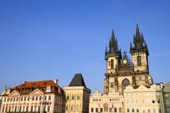 Vecchia architettura della città di Praga Fotografie Stock