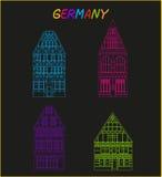 Vecchia architettura della Germania Fotografie Stock
