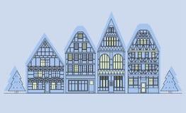 Vecchia architettura della Germania Immagine Stock