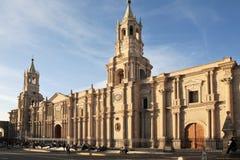Vecchia architettura spagnola, Arequipa, Perù. immagini stock