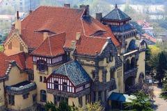 Vecchia architettura tedesca di stile Immagini Stock