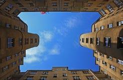 Vecchia architettura a Varsavia Fotografie Stock Libere da Diritti