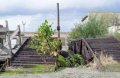 Vecchia area abbandonata della fabbrica fotografia stock libera da diritti