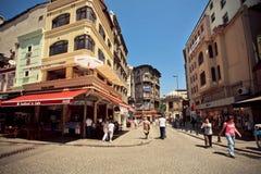 Vecchia area di Sultanahmet con molti ristoranti Fotografia Stock