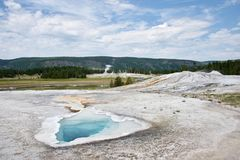 Vecchia area fedele del bacino superiore del geyser fotografia stock