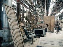 Vecchia area lavoro sudicia Immagine Stock