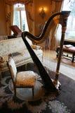 Vecchia arpa Fotografia Stock