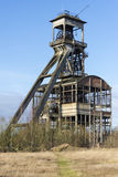Vecchia asta cilindrica della miniera di carbone Fotografia Stock Libera da Diritti