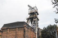Vecchia asta cilindrica della miniera di carbone Immagine Stock