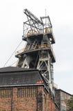 Vecchia asta cilindrica della miniera di carbone Fotografia Stock