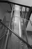 Vecchia asta cilindrica di elevatore Fotografie Stock Libere da Diritti