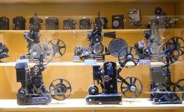 Vecchia attrezzatura in museo del cinema Immagine Stock