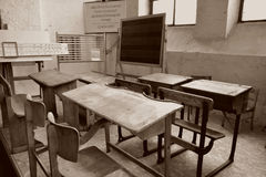 Vecchia aula Immagine Stock