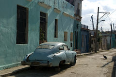Vecchia automobile, Avana, Cuba Immagine Stock Libera da Diritti