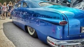 Vecchia automobile blu d'annata Fotografie Stock Libere da Diritti