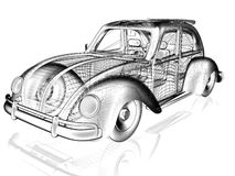 vecchia automobile 3d Immagini Stock Libere da Diritti