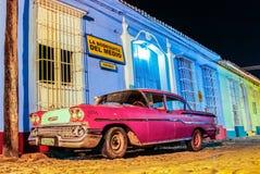 Vecchia automobile d'annata Cuba Trinidad Fotografia Stock