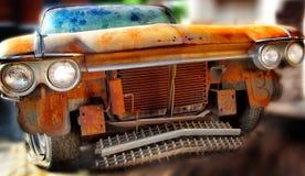 Vecchia automobile dell'americano del ciarpame Fotografia Stock Libera da Diritti
