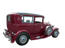 Vecchia automobile della Borgogna potata Fotografie Stock Libere da Diritti