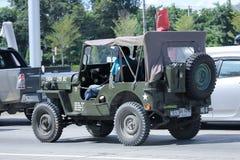 Vecchia automobile di Jeep Private Fotografia Stock Libera da Diritti