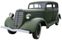 Vecchia automobile di verde dell'esercito Fotografia Stock