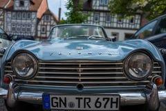 Vecchia automobile in Gelhausen fotografia stock libera da diritti