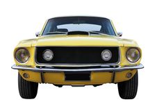 Vecchia automobile gialla immagini stock