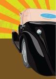 Vecchia automobile nera Immagine Stock