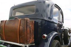 Vecchia automobile nera Fotografia Stock