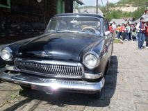 Vecchia automobile nera stupefacente del temporizzatore fotografia stock