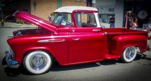 Vecchia automobile piacevole alla manifestazione di automobile fotografia stock