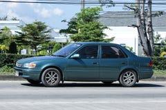 Vecchia automobile privata, Toyota Corolla immagine stock libera da diritti