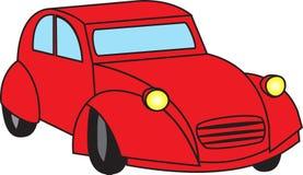 Vecchia automobile rossa Illustrazione di Stock