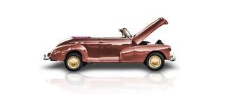 vecchia automobile rossa del cabriolet Fotografia Stock Libera da Diritti