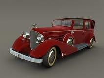 Vecchia automobile rossa (grafici 3d) Fotografia Stock Libera da Diritti