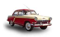 Vecchia automobile sovietica Volga GAZ-21 Priorità bassa bianca Immagini Stock Libere da Diritti