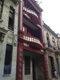 Vecchia Avana - Cuba - ripristino coloniale della costruzione Fotografia Stock Libera da Diritti