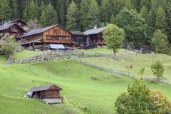 Vecchia azienda agricola dell'alpe Fotografie Stock Libere da Diritti