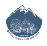 Vecchia azienda agricola nelle montagne Fotografie Stock
