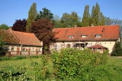 Vecchia azienda agricola in Polonia Immagine Stock