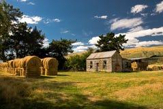 Vecchia azienda agricola rurale di legno Fotografia Stock Libera da Diritti
